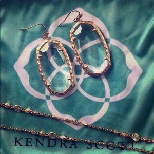 Kendra Scott Ella Rose Gold Clear Crystal